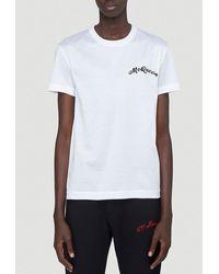 Alexander McQueen Logo Embroidered T-shirt - White