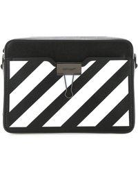 Off-White c/o Virgil Abloh Diagonal Stripe Crossbody Bag - Black