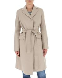 Theory Belted Coat - Natural