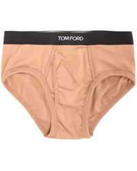 Tom Ford Jersey Briefs - Natural