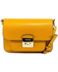 7d32369f8a14 Michael Michael Kors Sloan Small Shoulder Bag in Natural - Lyst