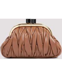 Miu Miu Belle Clutch Bag - Brown