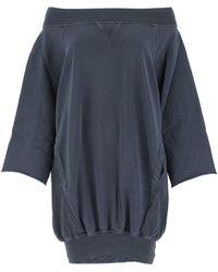 DIESEL D-akuoket-rib Sweatshirt Dress - Blue