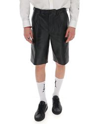 Prada Leather Tailored Shorts - Black