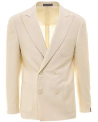 Corneliani Wool Blazer - White
