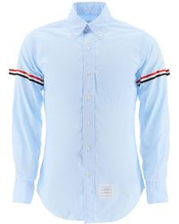 Thom Browne Striped Sleeve Shirt - Blue