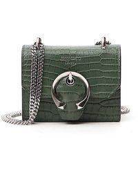 Jimmy Choo Mini Paris Crossbody Bag - Green