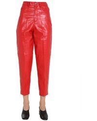 Philosophy Di Lorenzo Serafini Faux-leather Pants - Red