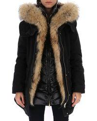 Woolrich - Padded Fur Trimmed Parka - Lyst
