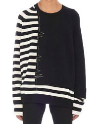 Haider Ackermann - Striped Embroidered Jumper - Lyst