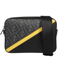 Fendi Ff Motif Camera Case Crossbody Bag - Black