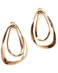 Alexander McQueen Double Hoop Earrings - Metallic
