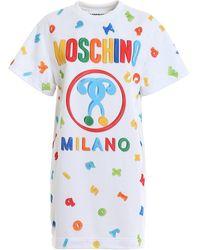 Moschino T-shirt Style Logo Dress - White