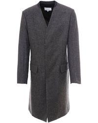 Maison Margiela Houndstooth Patterned Coat - Grey
