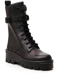 Valentino Valentino Garavani Campsite Combat Boots - Black