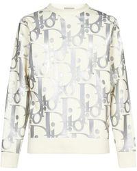 Dior Oversized Reflective Oblique Sweater - Multicolor