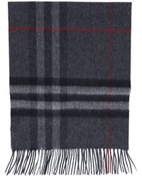 Burberry Giant Check Scarf - Blue