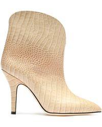 Paris Texas Beige Ankle Boots - Brown