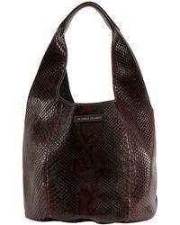 Brunello Cucinelli Embossed Shoulder Bag - Brown