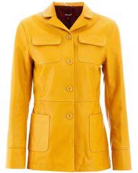 Sies Marjan Raquel Leather Jacket 2 Leather - Yellow