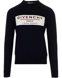 Givenchy Label Knitted Jumper - Black