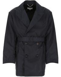 Maison Margiela Four-stitches Belted Trench Coat - Blue