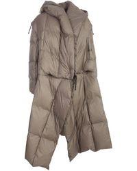 Issey Miyake Long Padded Coat - Grey