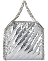 cf9fb1c8ffba Lyst - Stella McCartney Falabella Gold Chain Faux Suede Bag in Metallic