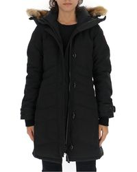 Canada Goose Lorette Fur Trimmed Hooded Parka - Black