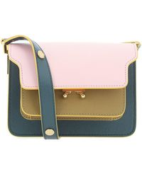 Marni Trunk Mini Shoulder Bag - Pink