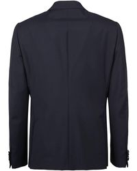 Z Zegna Single Breasted Two-piece Smoking Suit - Blue