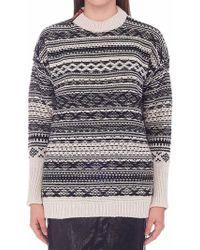 Nude Jacquard Sweater - Multicolor