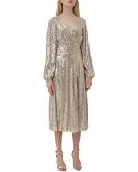 Lauren by Ralph Lauren Bowen Sequin Embellished Dress - Metallic