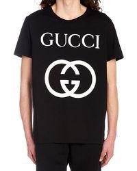 Gucci Oversize T-shirt With Interlocking G Black