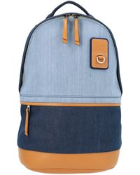 Loewe Panelled Logo Patch Backpack - Blue