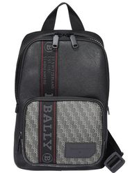 Bally Sihorn Logo Backpack - Black