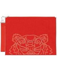 KENZO Kampus Tiger Large Pouch - Red