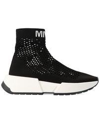 Maison Margiela Logo Sock Runner Sneakers - Black