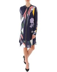Tory Burch - Printed Pleated Detail Dress - Lyst