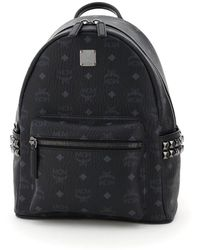 MCM Stark Studded Backpack - Black