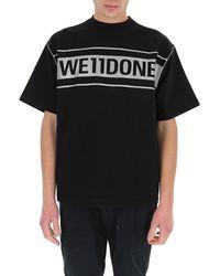 we11done Logo Printed T-shirt - Black