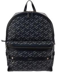 Versace La Greca Signature Backpack - Black