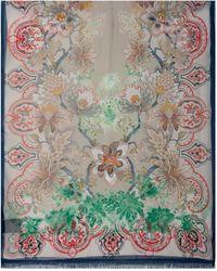 Etro - Floral Print Fringed Scarf - Lyst