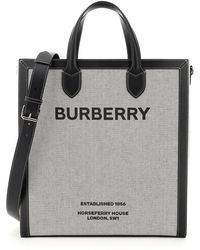 Burberry - Kane Medium Canvas Tote Bag - Lyst