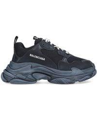 Balenciaga Triple S Lace-up Sneakers - Black