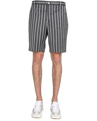 Thom Browne Bermuda With Striped Pattern - Multicolor