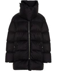 Rick Owens Mountain Oversized Zip-up Coat - Black