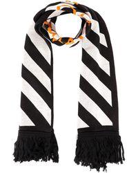 Off-White c/o Virgil Abloh Diagonal Striped Scarf - Black