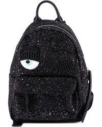 Chiara Ferragni Wink Glitter Backpack - Black