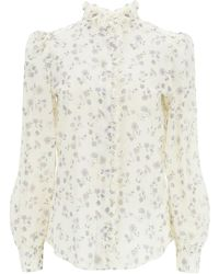See By Chloé Flouncy Floral Printed Shirt - Grey
